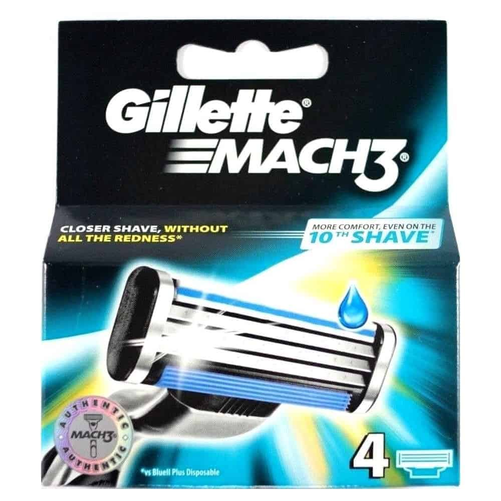 Резервни Ножчета за Самобръсначка Gillette Mach3 4 бр.