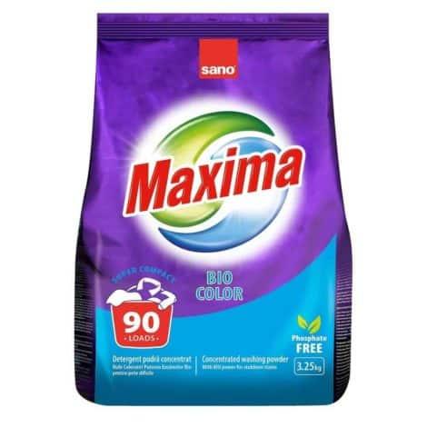 Универсален Прах за Пране Sano Maxima Bio Color 90 Изпирания 3.25 кг.