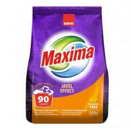 Универсален Прах за Пране Sano Maxima Javel 90 Изпирания 3.25 кг.