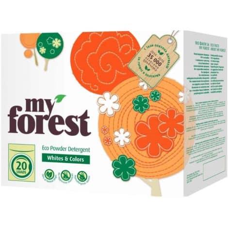 Прах за Бяло и Цветно Пране My Forest 20 Пранета 1.2 кг.