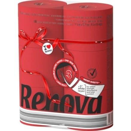 Тоалетна Хартия Renova Червена 6 бр.