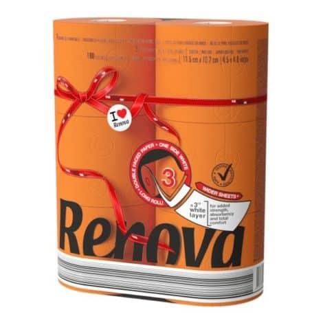 Тоалетна Хартия Renova Оранжева 6 бр.