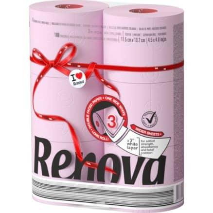Тоалетна Хартия Renova Роза 6 бр.