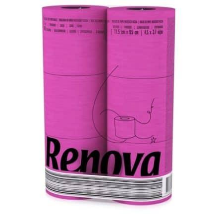 Тоалетна Хартия Renova Розова 6 бр.