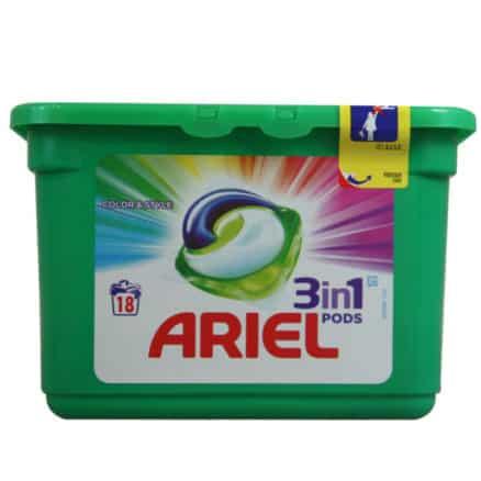 Капсули за Цветно Пране Ariel 3in1 Pods 18 изпирания
