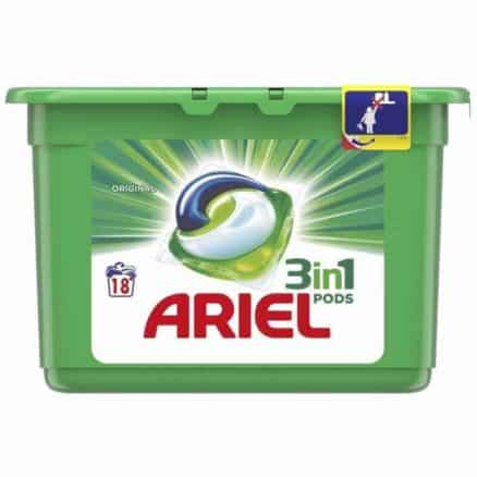 Капсули за Пране Ariel 3in1 Pods Original 18 изпирания