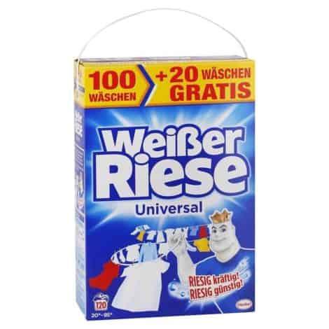 Прах за Бяло и Цветно Пране Weisser Riesse 120 Пранета 8.4 кг
