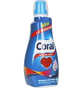 Течен Перилен Препарат за Цветнo Пране Coral 22 изпирания 1.1 л.