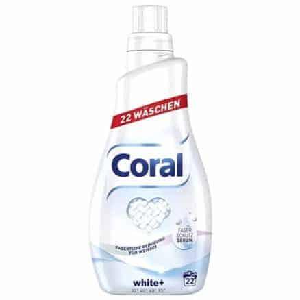 Течен Перилен Препарат за Бяло Пране Coral 22 изпирания 1.1 л
