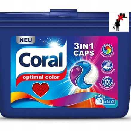 Капсули за Цветнo Пране Coral 18 бр.