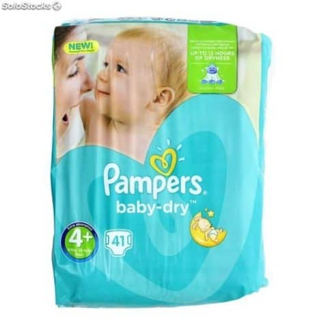 Пелени Pampers Baby Dry 41 бр. Размер 4+