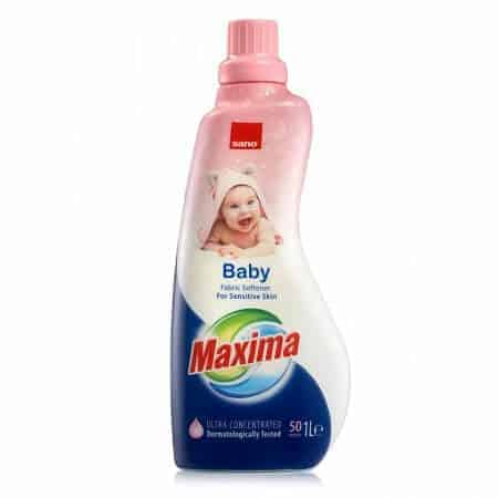 Концентриран Омекотител за Бебешки Дрешки Sano Maxima Baby 50 Изпирания 1 л.