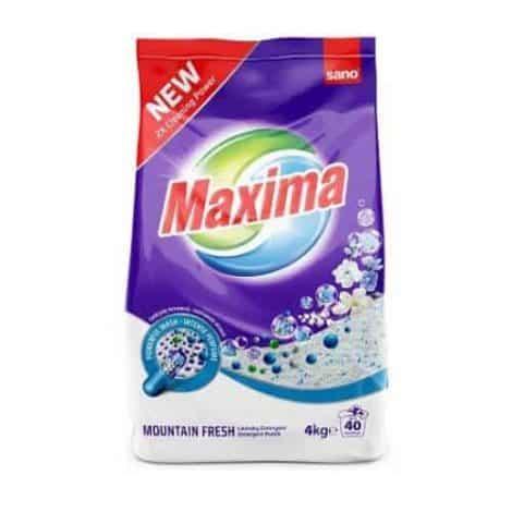 Концентриран Прах за Пране Sano Maxima Mauntain Fresh 40 Изпирания 4 кг.