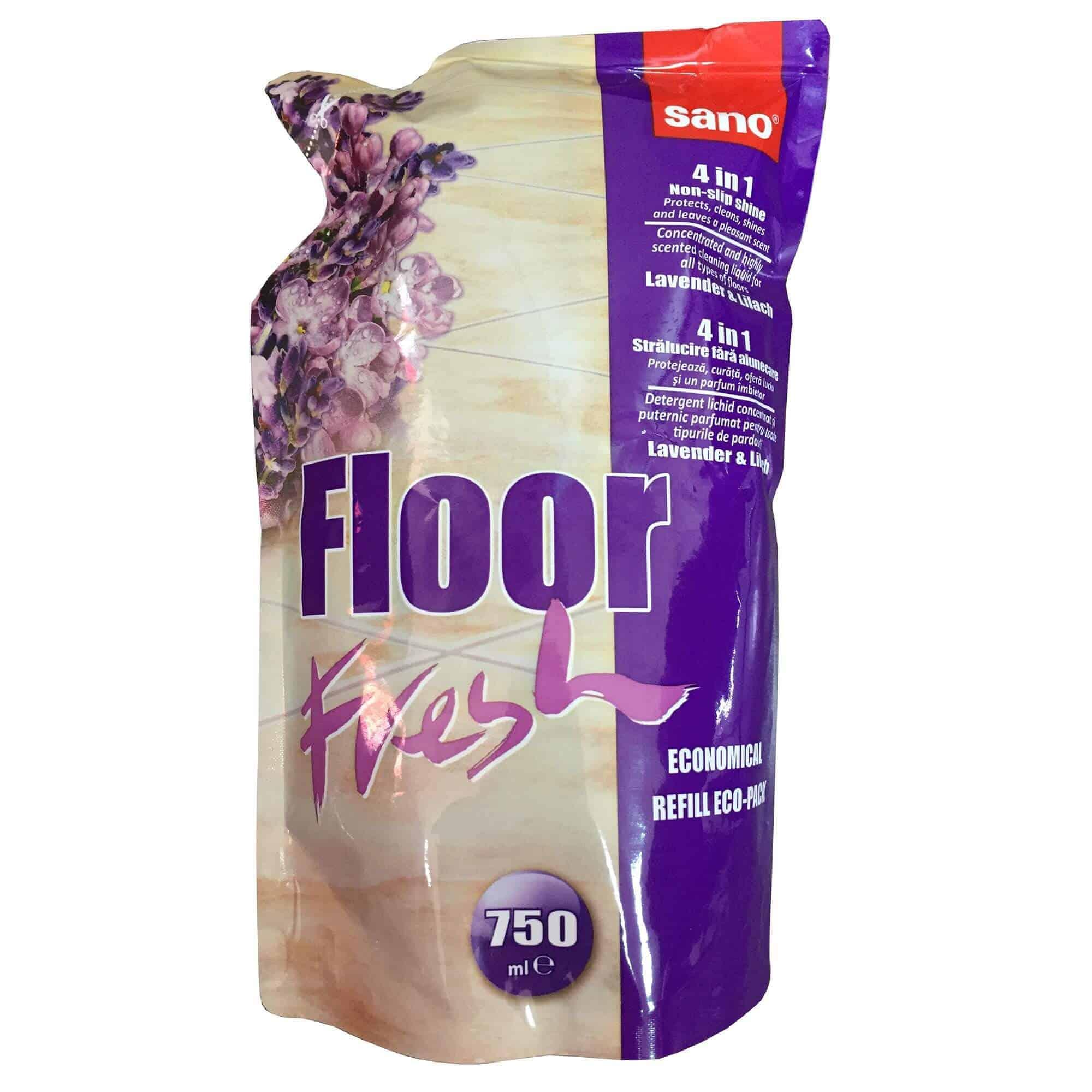 Почистващ Препарат за Подове Лавандула Sano Floor Fresh 750 ml.