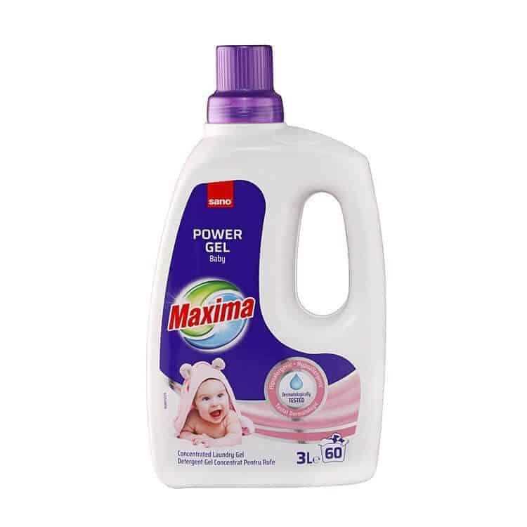 Течен Перилен Препарат за Бебешки Дрешки Sano Maxima Baby 60 Изпирания 3 л.