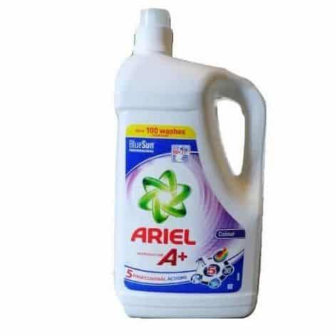 Течен Перилен Препарат за Цветно Пране Ariel A+ 100 Изпирания 5 л.