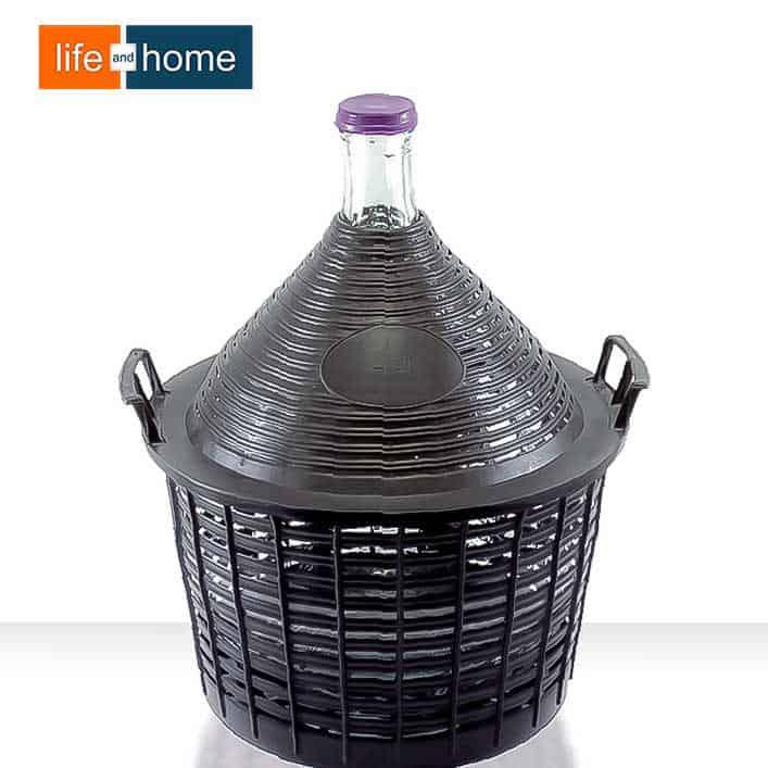 Дамаджана 20 литра в Пластмасов Кош с Дръжки